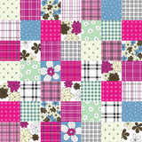 Vector patchwork seamless pattern Royalty Free Stock Photography