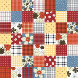 Vector patchwork seamless pattern Stock Images