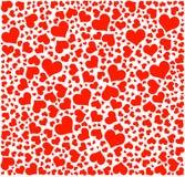 Vector, patrón de los corazones stock de ilustración