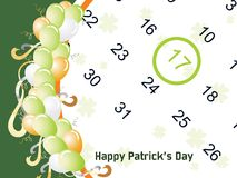 Vector patrick day calender Stock Photo