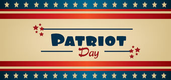 Vector Patriot Day, with blue and red stripes Stock Photos