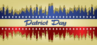 Vector Patriot Day, with stars Stock Photos