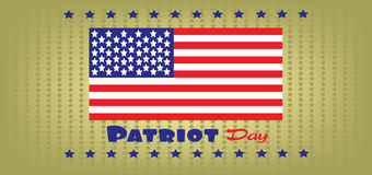 Vector Patriot Day, with usa flag and stars Stock Photos