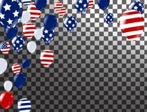 Vector Patriotic Balloon grouping. Eps vector illustration