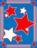 Vector Patriotic Star Background Stock Photo