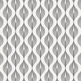 Vector patroon Abstracte modieuze achtergrond met de gestileerde lineaire bloemblaadjes van de draaikromme op slinger stock illustratie