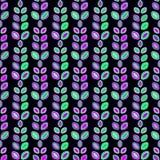 Vector patroon abstracte, Vlotte lijnen, velen, Abstracte Achtergrond naadloos patroon, Vlakke Stijl, bladeren, installaties royalty-vrije illustratie