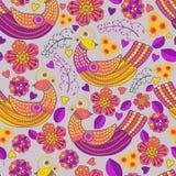 Vector patroon abstracte, Vlotte lijnen, velen, Abstracte Achtergrond naadloos patroon, Vlakke Stijl, installaties, takken, leav vector illustratie