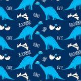 Vector patroon brontosaurus vector illustratie