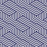 Vector patroon het herhalen van hexagon net De samenvatting ontdeed van geometrische achtergrond Vector illustratie Stock Afbeeldingen