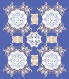 Vector patroon van Portugese ceramisch Stock Fotografie