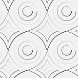 Vector pattern. Circle and rhomb pattern including seamless sample in swatch panel Royalty Free Stock Photos