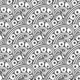 Vector pattern with abstract ornament. Adult coloring book page. Zentangle seamless design Royalty Free Stock Images