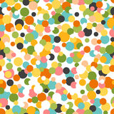 Vector pattern. Abstract ornament with scattered confetti. Seamless tiling background. Firecrackers explosion. Royalty Free Stock Photo