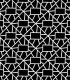 Vector pattern. Abstract Seamless Black and White Art Deco Lattice Vector Pattern Royalty Free Stock Photography