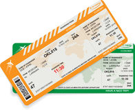 Vector  pattern of airline boarding pass Stock Photography