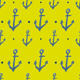 Vector pattern with anchors Royalty Free Stock Images