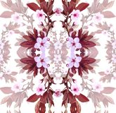Vector pattern apricot flowers Royalty Free Stock Images