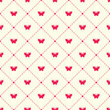 Vector pattern with argyle and moths Royalty Free Stock Image