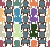 Vector pattern with armchairs Stock Image