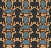 Vector pattern with armchairs Royalty Free Stock Images