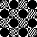 Vector, pattern, background, seamless pattern, abstract pattern, decorative pattern, decoration, design, circle, square, black, wh Royalty Free Stock Image