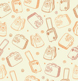 Vector pattern with bags, suitcases and backpacks Royalty Free Stock Photo
