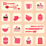 Vector pattern on baking theme Royalty Free Stock Photos