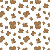 Vector pattern with bear cubs. Stock Images