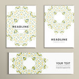 Vector pattern beautiful pattern on printed product. Design for books, banners, pages advertising Stock Photos