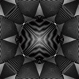 Vector pattern with black graphic lines, kaleidoscope abstract Stock Photography