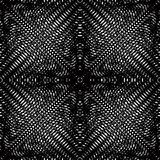 Vector pattern with black graphic lines, kaleidoscope abstract Stock Photo