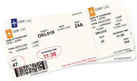 Vector pattern of a boarding pass Stock Photo