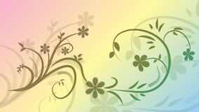 Vector pattern from a branch with flowers on a colored background. EPS 10. Vector pattern from a branch with flowers on a colored background stock illustration