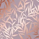 Vector pattern with branches with imitation surface of pink gold Royalty Free Stock Photo