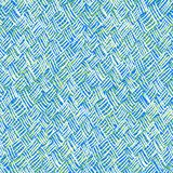 Vector pattern with brushed crossing thin lines. Seamless vector pattern with brushed thin lines in random direction in green & blue colors Texture for web Stock Images