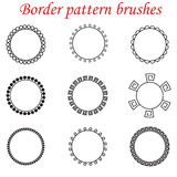 Vector pattern brushes for borders, dividers and frames. Royalty Free Stock Photography