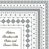 Vector pattern brushes with outer and inner tiles Royalty Free Stock Photo