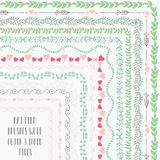 Vector pattern brushes with outer and inner tiles Stock Images