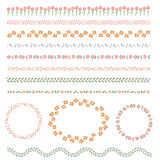 Vector pattern brushes Stock Photo