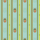 vector pattern with bugs Stock Images