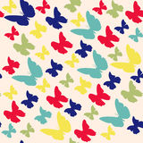 Vector pattern with Butterflies Stock Photography