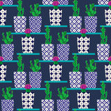 Vector pattern with cactus Royalty Free Stock Photography