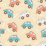 Vector pattern with cartoon cars for use in design Royalty Free Stock Photography