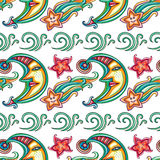 Vector pattern with Celestial symbols Royalty Free Stock Photography