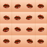 Vector pattern Chocolate Kiss Royalty Free Stock Photo