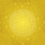 Vector pattern with Christmas ball. Royalty Free Stock Photography
