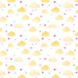 Vector pattern with clouds. stock illustration
