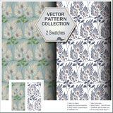 Vector pattern collection that includes 2 swatches Stock Photo
