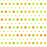 Vector pattern colorful polka dots on white background Stock Images